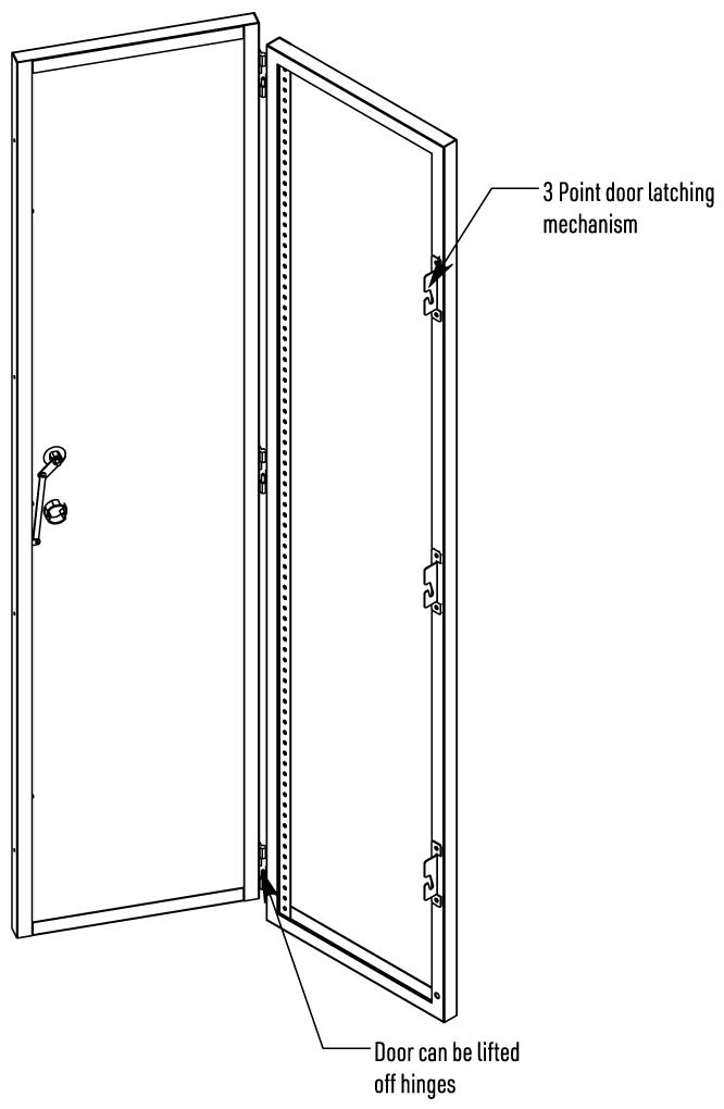 HCU2084D Iso View Door Open