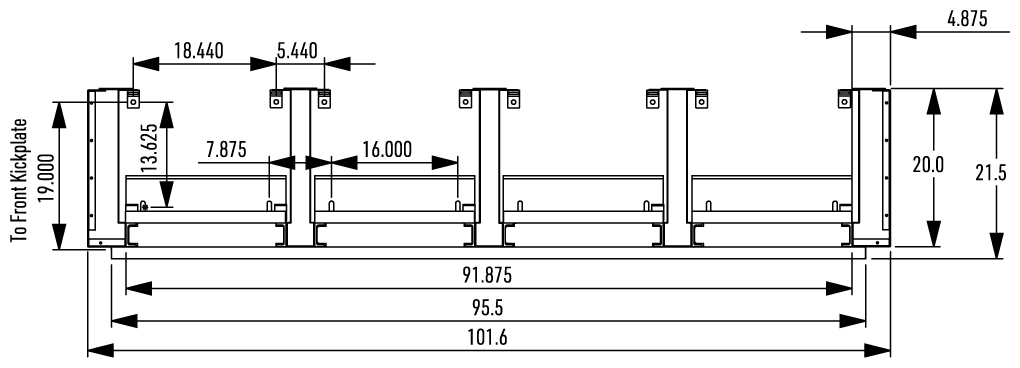 Top Plan View with Endcovers